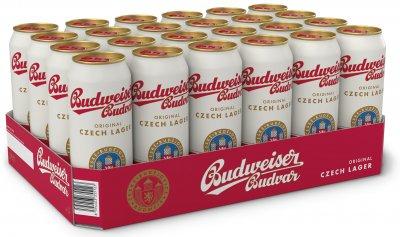Упаковка пива Budweiser Budvar світле фільтроване 5% 0.5 л х 24 шт (8594403352122)