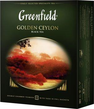 Чай пакетированный Greenfield Golden Ceylon 100 x 2 г (4823096801704)