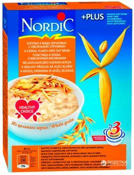 Пластівці NordiC 4 види зернових з вівсяними висівками 600 г (6416597838508)