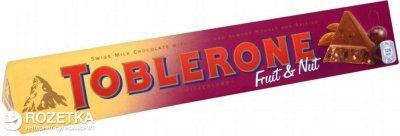 Шоколад Toblerone Молочный с изюмом и нугой 100 г (7622300107949)