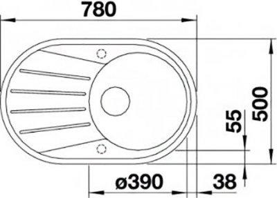 Кухонна мийка BLANCO TAMOS 45 S (521390) антрацит + зливний гарнітур (229362)