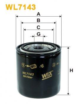Фильтр масляный WIX WL7143 - FN OP581