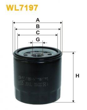 Фильтр масляный WIX WL7197 - FN OP634
