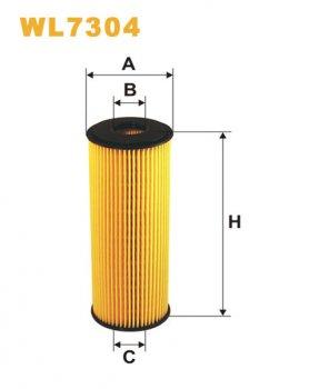 Фильтрующий элемент масляного фильтра WIX WL7304 - FN OE640/3