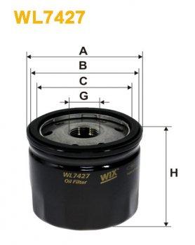 Фильтр масляный WIX WL7427 - FN OP643/4