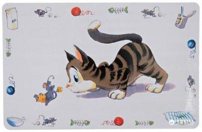 Коврик под миски для собак и кошек Trixie Comic Cat 44 x 28 см (4011905245447)