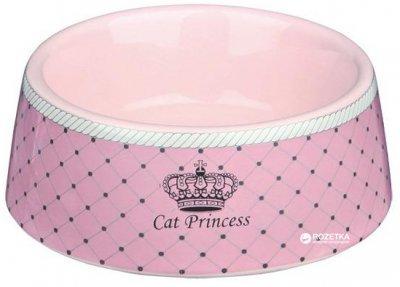 Миска керамическая для кошек Trixie Cat Princess 180 мл Розовая 24780 (4047974247808)