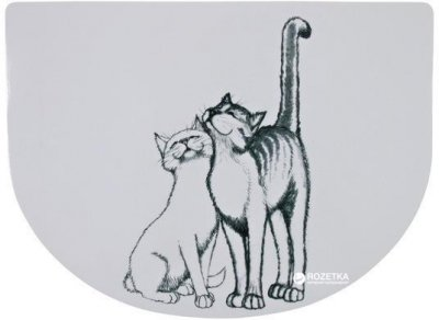 Коврик под миски для собак и кошек Trixie Pussy Cat 40 x 30 см (4011905245409)