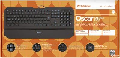 Клавиатура проводная Defender Oscar SM-660L Pro USB (45662)