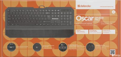 Клавиатура проводная Defender Oscar SM-600 Pro USB (45602)
