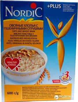 Хлопья овсяные NordiC с пшеничными отрубями 600 г (6416597838454)