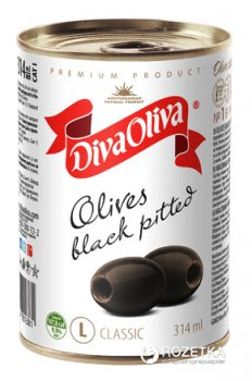 Маслины без косточки Diva Oliva 300 г (5060162901381 / 8436024293098)