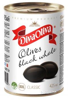 Маслини великі XXL з кісточкою Diva Oliva 420 г (5060162901350 / 8436024291889)