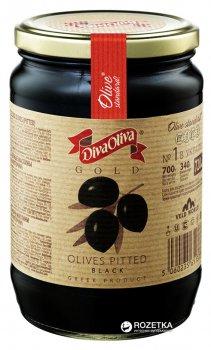 Маслины черные без косточки Diva Oliva Gold 720 мл (5060235651373)