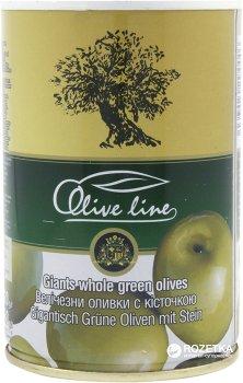 Оливки огромные с косточкой Olive Line 420 г (8436024294446)