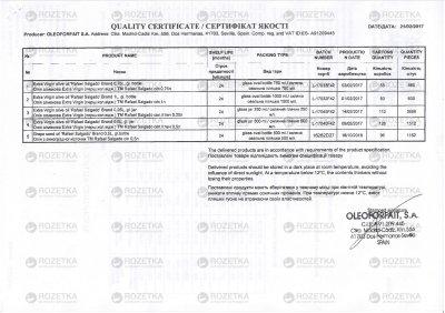 Оливковое масло Rafael Salgado Extra Virgin 750 мл (8420701102124)