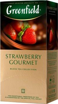 Чай пакетированный Greenfield Strawberry Gourmet 25 x 1.5 г (4823096803944)