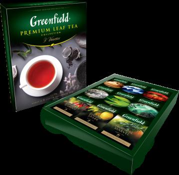 Набор чая листовой Greenfield Premium Leaf Tea Collection 9 видов x 390 г (4823096804972)