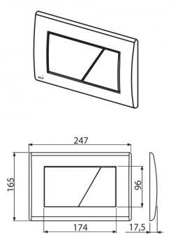 Панель смыва ALCA PLAST M171 хром/глянец