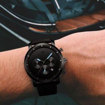 Чоловічі годинники MEGALITH VECTOR LEATHER (7712)