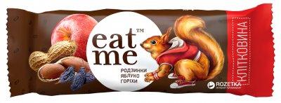 Упаковка батончиков EatMe изюм-яблоки-орехи в черном шоколаде 10 шт x 30 г (4820100550177_4820100550610_4820100550207)