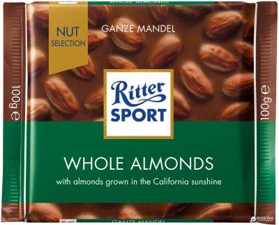 Шоколад Ritter Sport Nut Selection молочный с цельными миндальными орехами 100 г (4000417703002_374378)