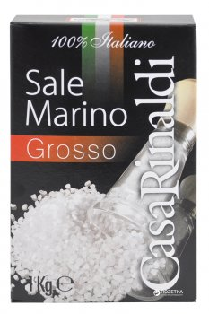 Сіль морська Casa Rinaldi 100% Italiano крупна 1 кг (8006165400114)