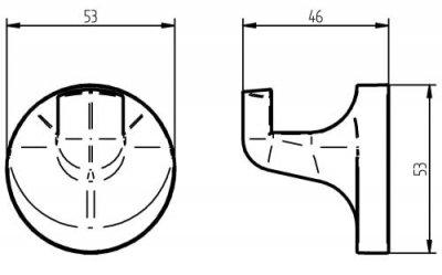 Крючок HACEKA Aspen (405312)