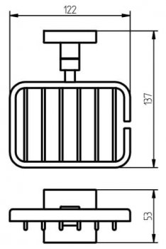 Мыльница-решетка HACEKA Mezzo (403010)