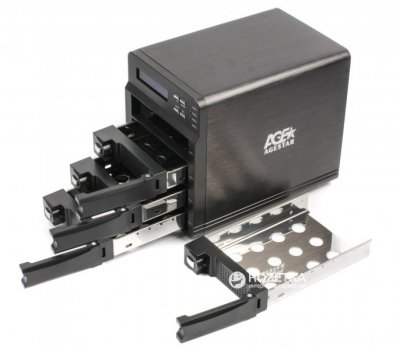 "Зовнішня кишеня Agestar для HDD 3.5 ""USB3.0 / 4xeSATA RAID (3C4B3A (Black))"