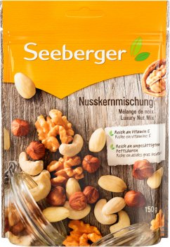 Суміш горіхів Екстра Seeberger ядра 150 г (4008258150092)