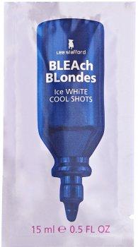 Тонирующее средство Lee Stafford Ice White Cool Shots платиновый оттенок для осветлённых волос 4x15 мл (LS1809) (5060282701809)