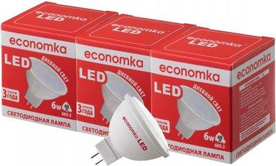 Світлодіодна лампа Economka LED MR16 6W GU5.3 4200K (4820172680376) 3 шт.
