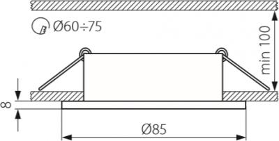 Світильник точковий Kanlux CT-S80-SN Marin (4704)