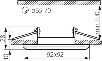 Світильник точковий Kanlux Morta B CT-DSL50-B (22110)
