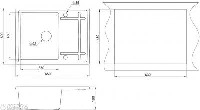 Кухонна мийка Minola MPG 1150-65 Арктик