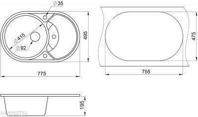 Кухонна мийка Minola MOG 1160-78 Еспресо