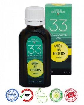Натуральное швейцарское Эфирное масло 33 травы VIVASAN Original 50 мл концентрат 100% GMP Certified