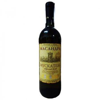 Вино Масандра Мускатель Південний біле десертне 0.75 л 16% (4820013375430)