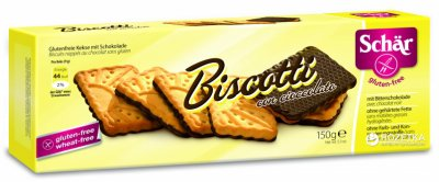 Печенье Dr. Schar Biscotti con cioccolato с шоколадом 150 г (8008698005347)
