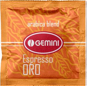 Кофе молотый в чалдах Gemini Espresso ORO 100 x 7 г (4820156430645)