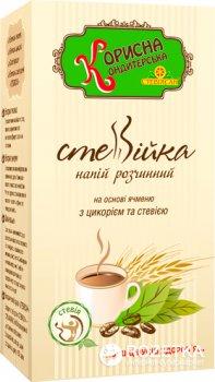 Напиток растворимый Корисна Кондитерська Стевийка на основе ячменя с цикорием и стевией 100 г (4820158920038)