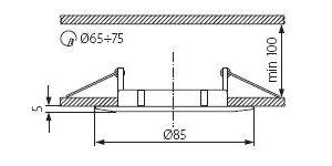 Світильник точковий Kanlux CTX-DS02B-AB Luto (KA-2584)