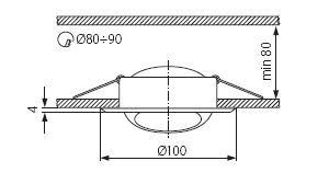 Світильник точковий Kanlux CT-2117-W Argus (KA-311)
