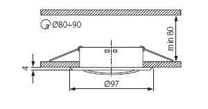 Світильник точковий Kanlux CT-2115-C Argus (KA-305)