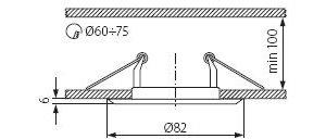 Світильник точковий Kanlux CTC-3114-PG/N Horn (KA-2823)