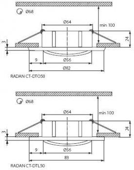 Світильник точковий Kanlux Radan CT-DTO50 (KA-7360)