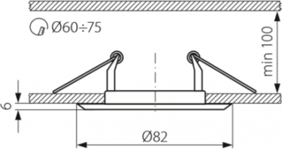 Світильник точковий Kanlux CTC-3114-GM/N Horn (KA-2824)