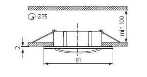 Світильник точковий Kanlux CTX-DT10-AB Navi (KA-2554)