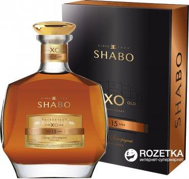 Бренди выдержанный Shabo X.O 15 лет выдержки 0.5 л 40% в подарочной упаковке (4820070403398)